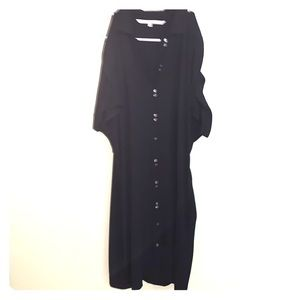 Rachel Roy Black Button-down Dress